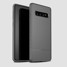Silicone Candy Rubber TPU Twill Soft Case Cover for Samsung Galaxy S10 Gray