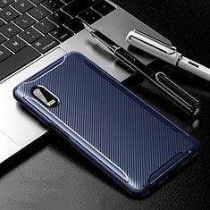 Silicone Candy Rubber TPU Twill Soft Case Cover for Samsung Galaxy XCover Pro Blue