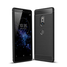 Silicone Candy Rubber TPU Twill Soft Case Cover for Sony Xperia XZ2 Black