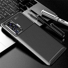Silicone Candy Rubber TPU Twill Soft Case Cover for Vivo X50 Pro 5G Black