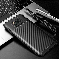 Silicone Candy Rubber TPU Twill Soft Case Cover for Xiaomi Poco X3 NFC Black