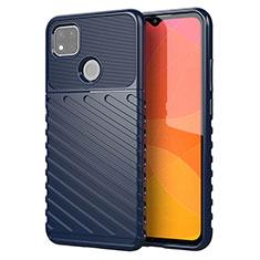 Silicone Candy Rubber TPU Twill Soft Case Cover for Xiaomi Redmi 9C Blue