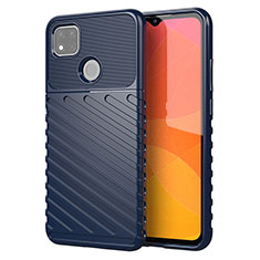 Silicone Candy Rubber TPU Twill Soft Case Cover for Xiaomi Redmi 9C NFC Blue