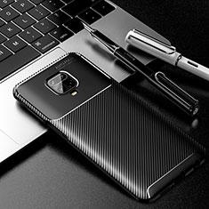 Silicone Candy Rubber TPU Twill Soft Case Cover for Xiaomi Redmi Note 9 Pro Black
