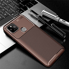 Silicone Candy Rubber TPU Twill Soft Case Cover S01 for Google Pixel 4a 5G Brown