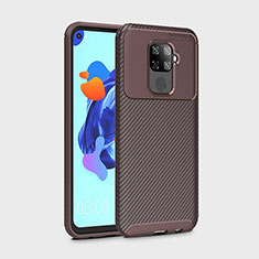 Silicone Candy Rubber TPU Twill Soft Case Cover S01 for Huawei Nova 5z Brown