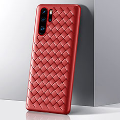 Silicone Candy Rubber TPU Twill Soft Case Cover S01 for Huawei P30 Pro Red