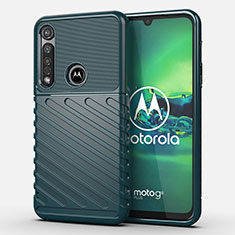 Silicone Candy Rubber TPU Twill Soft Case Cover S01 for Motorola Moto G8 Plus Green