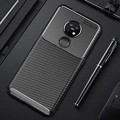 Silicone Candy Rubber TPU Twill Soft Case Cover S01 for Nokia 6.2 Black