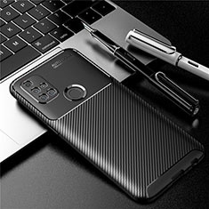 Silicone Candy Rubber TPU Twill Soft Case Cover S01 for OnePlus Nord N10 5G Black