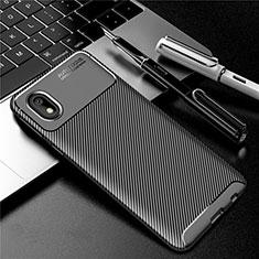 Silicone Candy Rubber TPU Twill Soft Case Cover S01 for Samsung Galaxy M01 Core Black