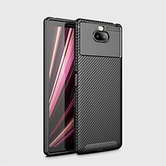 Silicone Candy Rubber TPU Twill Soft Case Cover S01 for Sony Xperia 10 Plus Black