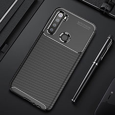 Silicone Candy Rubber TPU Twill Soft Case Cover Y01 for Xiaomi Redmi Note 8 Black