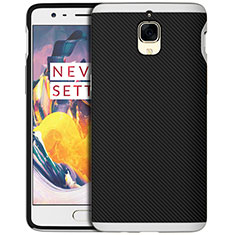 Silicone Candy Rubber TPU Twill Soft Case for OnePlus 3 Silver