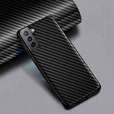 Silicone Candy Rubber TPU Twill Soft Case for Samsung Galaxy S21 Plus 5G Black