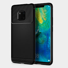 Silicone Candy Rubber TPU Twill Soft Case R01 for Huawei Mate 20 Pro Black