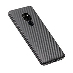 Silicone Candy Rubber TPU Twill Soft Case T03 for Huawei Mate 20 Black