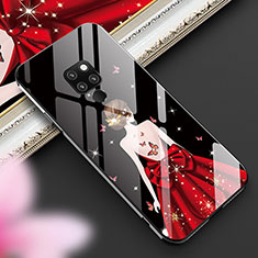 Silicone Frame Dress Party Girl Mirror Case Cover K01 for Huawei Mate 20 Black