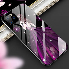 Silicone Frame Dress Party Girl Mirror Case Cover M01 for Apple iPhone 11 Pro Purple