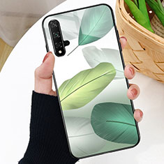 Silicone Frame Fashionable Pattern Mirror Case Cover D01 for Huawei Nova 5T Green