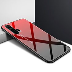 Silicone Frame Fashionable Pattern Mirror Case Cover for Huawei Honor 20 Pro Red