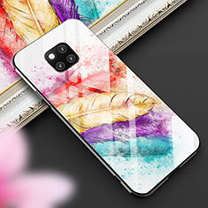 Silicone Frame Fashionable Pattern Mirror Case Cover for Huawei Mate 20 Pro Mixed