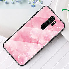 Silicone Frame Fashionable Pattern Mirror Case Cover for Xiaomi Redmi Note 8 Pro Rose Gold