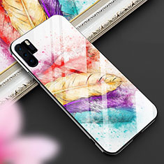 Silicone Frame Fashionable Pattern Mirror Case Cover K01 for Huawei P30 Pro Colorful
