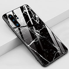 Silicone Frame Fashionable Pattern Mirror Case Cover K03 for Huawei P30 Pro Black
