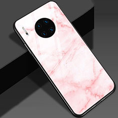 Silicone Frame Fashionable Pattern Mirror Case Cover S01 for Huawei Mate 30 Pro 5G Pink