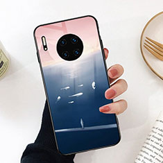 Silicone Frame Fashionable Pattern Mirror Case Cover S02 for Huawei Mate 30 Pro 5G Colorful