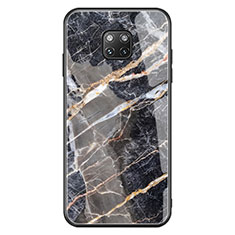 Silicone Frame Fashionable Pattern Mirror Case K01 for Huawei Mate 20 Pro Black