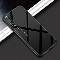 Silicone Frame Mirror Case Cover for Huawei Enjoy 10S Black