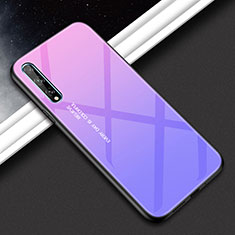 Silicone Frame Mirror Case Cover for Huawei Enjoy 10S Purple
