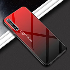 Silicone Frame Mirror Case Cover for Huawei Enjoy 10S Red