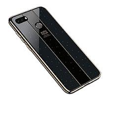 Silicone Frame Mirror Case Cover for Huawei Enjoy 8 Plus Black