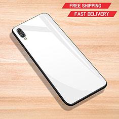 Silicone Frame Mirror Case Cover for Huawei Enjoy 9 White