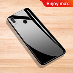 Silicone Frame Mirror Case Cover for Huawei Enjoy Max Black