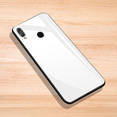 Silicone Frame Mirror Case Cover for Huawei Enjoy Max White