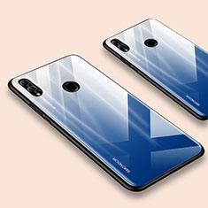 Silicone Frame Mirror Case Cover for Huawei Honor 10 Lite Blue