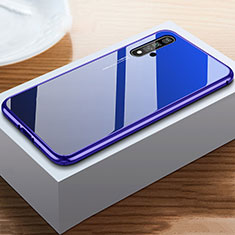 Silicone Frame Mirror Case Cover for Huawei Honor 20 Blue