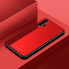 Silicone Frame Mirror Case Cover for Huawei Honor 20 Pro Red