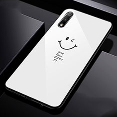 Silicone Frame Mirror Case Cover for Huawei Honor 9X White
