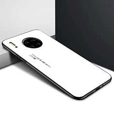 Silicone Frame Mirror Case Cover for Huawei Mate 30 Pro 5G White