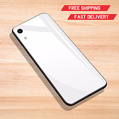Silicone Frame Mirror Case Cover for Huawei Y6 Prime (2019) White
