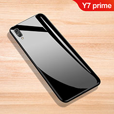 Silicone Frame Mirror Case Cover for Huawei Y7 Prime (2019) Black