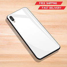 Silicone Frame Mirror Case Cover for Huawei Y7 Pro (2019) White