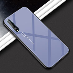 Silicone Frame Mirror Case Cover for Huawei Y8p Gray