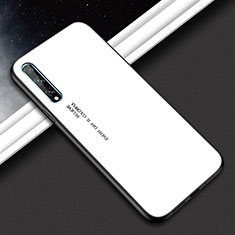 Silicone Frame Mirror Case Cover for Huawei Y8p White