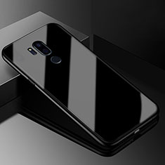 Silicone Frame Mirror Case Cover for LG G7 Black